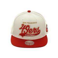 Mitchell Ness VF59Z San Francisco 49ers Snapback Hat White 77b3b1906347