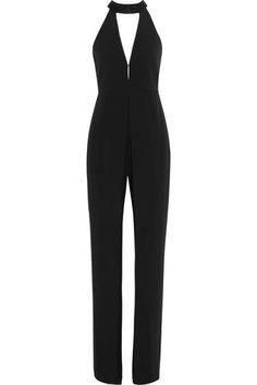 Halston Heritage | Embellished stretch-crepe jumpsuit | NET-A-PORTER.COM