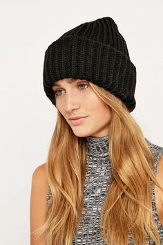 Ribbed Stand-Up Beanie