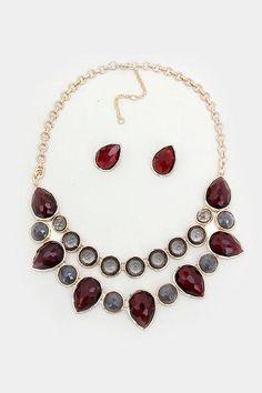 Madeline Necklace in Pomegranate on Emma Stine Limited