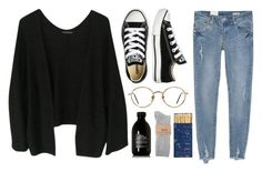"""Kate"" by soym ❤ liked on Polyvore featuring Brandy Melville, Jayson Home, Converse, GlassesUSA and Davines"