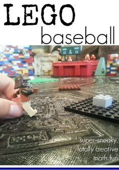 Lego baseball is a super sneaky totally creative way to make math fun! Grab your Legos and start teaching kids some incredible math facts the FUN way! #math #teachingkids #legos #fun #learningfun #mathideas #mathlessons #handsonactivities #elementary #kidslearning #learningmath #mathactivities #teachmama