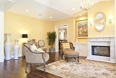 """Traditional Living Room with Flower Garden Pink & Green 17"""" Wide Chandelier, Chandelier, Wall sconce, Laminate floors"""