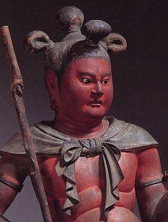 Statues of Ceṭaka, Kongohbuji Temple in Wakayama, Japan 制多迦童子像(金剛峯寺)