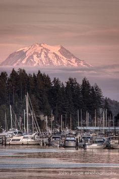 View of Mt. Rainier from Gig Harbor.