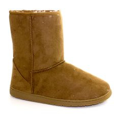 Faux Suede Ankle Boots Tan