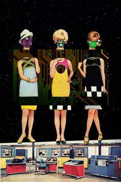 Mannequins & Robots by Eugenia Loli   #collage