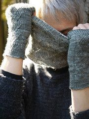 Ravelry: Curling Neckwarmer and Mitts pattern by Anne Hanson