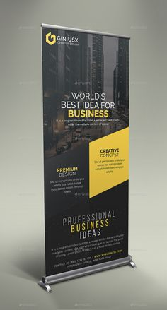 Business Roll Up Banner Bundle - Banner - Rollup Banner Design, Rollup Design, Graphic Design Flyer, Brochure Design, Xbanner Design, Standing Banner Design, Standee Design, Banner Design Inspiration, Pop Up Banner