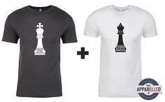 King & Queen Chess Couples Shirts