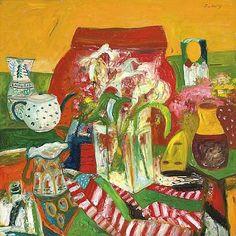 John Bellany Red Still Life 20th century