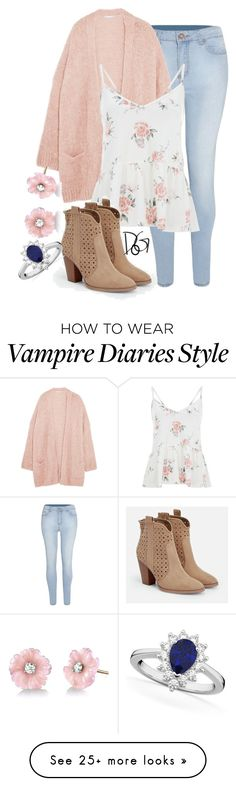 """""Boys they like the look of danger, we'll get him falling for a stranger, a player"" / Caroline Forbes -The Vampire Diaries"" by dreamsofglory on Polyvore featuring Eberjey, JustFab, Irene Neuwirth and Allurez"