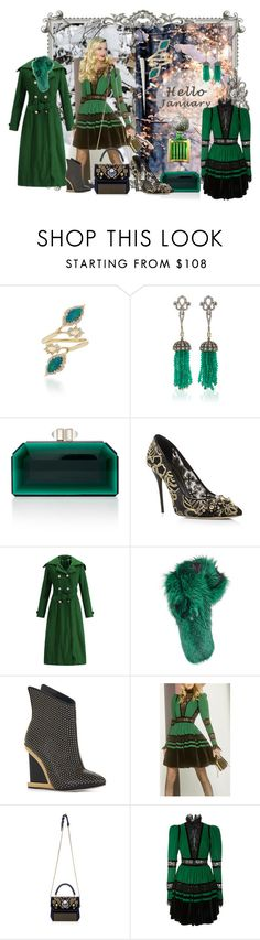 """january green"" by snowmoon ❤ liked on Polyvore featuring Oscar de la Renta, Lilly e Violetta, BCBGMAXAZRIA, Handle and Elie Saab"