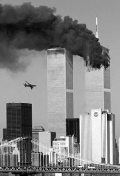 9/11 - I watched this exact moment from a window on the 25th floor of 1411Broadway....  scs