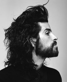 Devendra Banhart -- People. Guys. Men. Confidence. Style. Cool. Indie. Dapper. Rugged. Beards. Hair. Man Buns. Tees. Suit & Tie. Denim. Clean Cut. Distinguished. Tattoos. Jawlines. Eyes. Strong.