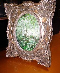 Bilderrahmen Polystein silber Barock Prunk Bunt, Mirror, Home Decor, Photo Frame Ideas, Stones, Silver, Dekoration, House, Decoration Home
