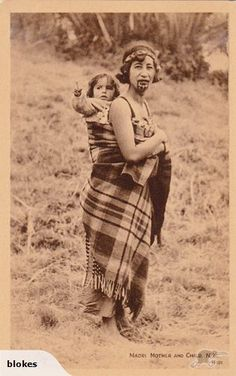 T71 Maori Mother and Child   Trade Me