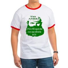 The ASHES Ringer T Shirt. W.G.Grace The Ashes is a Test cricket series played between England and Australia. The Ashes are held by the team that won the last Test series. ENGLAND EXPECTS.