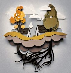 Paper Cut Out Art – Using Paper To Create Sculpture Like Effect ...