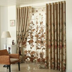 Home curtain design Quality fashion curtain living room curtain finished product pearl of the orient blind window curtain3*2.6m