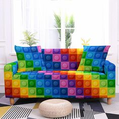 Creative Design, Couch Slipcover, Summer, Interiors
