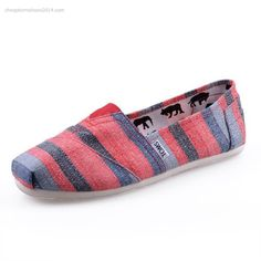 Red Gray Stripe Womens Classics  $27.99 Save: 67% off There are so many different colors of toms classic shoes. The special style is superbly designed for comfort and protection.