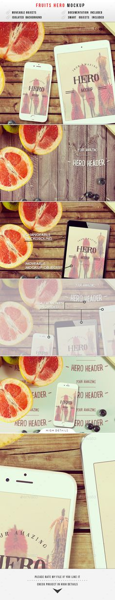 Fruits Hero Header Mockup - Hero Images Graphics
