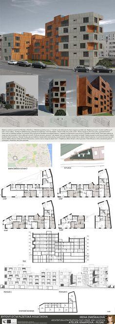 Studentský projekt. LS 2013/2014. FSv ČVUT v Praze. Praha, Ideas Para, Floor Plans, Architecture, Buildings, Atelier, Arquitetura, Architecture Design, Floor Plan Drawing