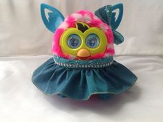 """Outfit for Furby or New Furby Boom Handmade Clothes """"Teal Glammer"""" 