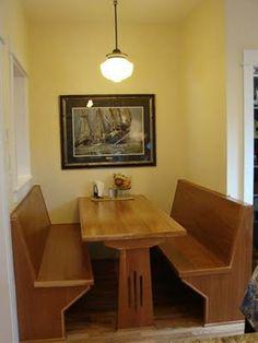 California Echo Banquettes Craftsman And Bungalow - Craftsman bungalow kitchen breakfast nooks