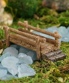 Add rustic charm to your miniature décor with this sprite-size piece. Note: To protect the beautiful paint work, spray fairy garden pieces with a colorless water sealer when leaving them outside. Kids Fairy Garden, Fairy Garden Furniture, Fairy Garden Houses, Gnome Garden, Fairy Crafts, Garden Crafts, Creation Deco, Fairy Garden Accessories, Miniature Fairy Gardens