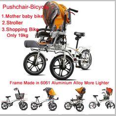 """Cheap 16 """" plegable Mother & Baby Bike 3 in1 carro de bebé cochecitos 3 ruedas regalo libre cubierta para la lluvia cochecito bicicleta cochecito Convertible, Compro Calidad Bicicleta directamente de los surtidores de China:     16 """"plegable madre y bebé bicicleta 3 in1 carro de bebé cochecitos 3 ruedas regalo cubierta de la lluvia cochec"""