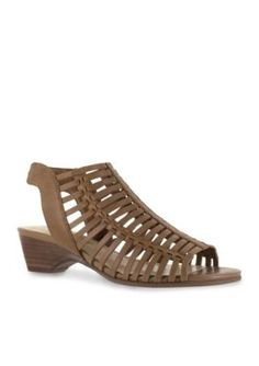 Bella-Vita Camel Pacey Wedge Sandal