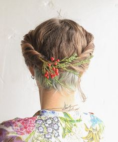 Updo For Short Hair With Nape Undercut
