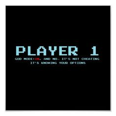 "Player 1 (11"" x 8.5""), Value Poster Paper (Matte)"