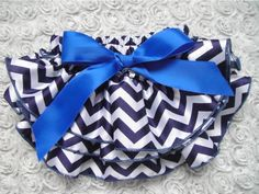48pcs/lot EMS free shipping baby posh bloomers navy chevron diaper cover navy ziazag print bloomer with bow kids satin bloomer