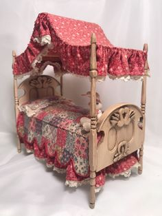 Dollhouse miniature artisan signed handmade vintage canopy bed 1:12 | Dolls & Bears, Dollhouse Miniatures, Artist Offerings | eBay!