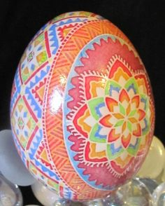Duck Egg Pysanka by Katrina Lazarev - such bright energy!