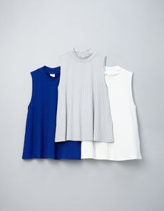 Ribbed tank with short turtleneck collar | Gina Tricot | Say Blue | www.ginatricot.com | #ginatricot