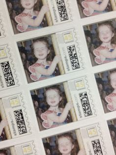 postage stamps with the bride's baby photos for a bachelorette party... or for the invitations, his family gets a baby picture of me... my family gets a baby picture of him? or viceversa.