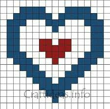 Heart in a heart pixel art