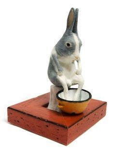 bunny made of paper by kyoko okubo