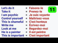 French Language Lessons, Spanish Language Learning, French Lessons, English Lessons, Learn English, French Words Quotes, Basic French Words, French Phrases, How To Speak French