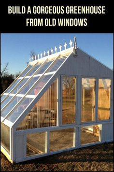Did you know that you can turn old windows into a beautiful greenhouse? Learn how to here!