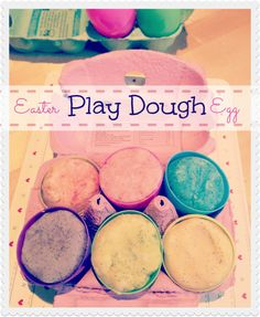 Homemade play dough for Easter - a great gift instead of chocolate.
