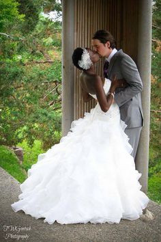 They met 3.5 years ago. She prayed all through out high school that God would send her a Godly man and a man who will love her. #interracialcouple #LoveKnowsNoColor