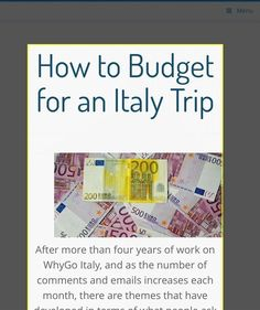 How to Budget for an Italy Trip – Italy Travel Guide #italianholidaystravel #italytravel #ItalyTravel