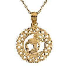 Zodiac Necklace (Aquarius) by Maya Brenner Designs