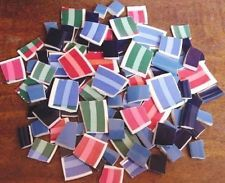 Mosaic Tiles 100 Colorful Cabana Striped & Solid FREE SHIPPING