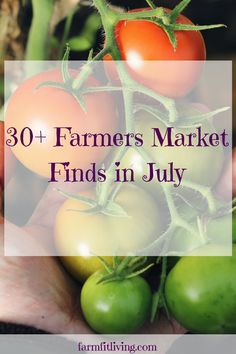 What to Find at Your Farmers Market in July Farmers Market Recipes, Country Lifestyle, Live Fit, Growing Herbs, Urban Farming, Preserving Food, Gardening Tips, Vegetable Gardening, Fresh Fruit